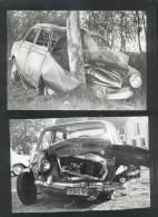 4780 - Photo De PRESSE, Accident De Voitures ( 2 Clichés) - Non Classés