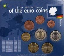 EURO-Einführung Deutschland 2002 Prägeanstalt F Stg 25€ Stempelglanz Der Staatlichen Münze Stuttgart Set Coin Of Germany - [ 7] 1949-…: BRD