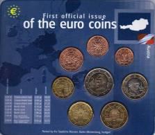 EURO-Einführung Österreich 2002 Stg 25€ Stempelglanz Der Staatlichen Münze Stuttgart Set Coin Of Germany - Austria