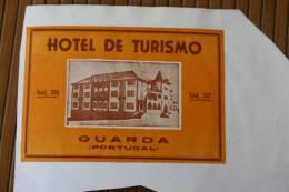 Étiquette D'hôtel —>  Hôtel De Tourismo Guarda Portugal Verso Hôtel Astoria Coimbra Portugal - Hotel Labels