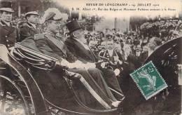 Paris - Revue De Longchamp, 14 Juillet 1910, S.M. Albert 1er Roi Des Belges Et Monsieur Fallières Arrivant à La Revue - Unclassified