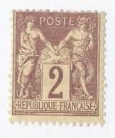 19155) France 1876 Mint Hinge * MH - 1876-1878 Sage (Type I)