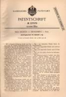Original Patentschrift - M. Richter In Hirschberg I. Schl., 1902 , Sortierer Für Holzstoff , Papier , Jelenia Góra !!! - Máquinas