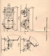 Original Patentschrift - Kippwagen , Kipper , 1902 , J. Naser In Nürnberg !!! - LKW