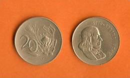 SOUTH AFRICA 1965-1969 20 Cent Van Riebeeck/Protea Km 69.2 - Zuid-Afrika