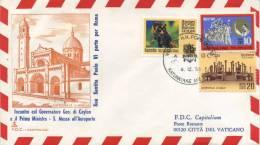 CEYLON - FDC CAPITOLIUM 1970 - VISITA DI S.S. PAOLO VI A CEYLON  - VIAGGIATA - FDC