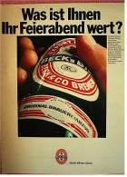 Reklame Werbeanzeige  Beck`s Bier  -  Was Ist Ihnen Ihr Feierabend Wert?  , Von 1969 - Andere Sammlungen