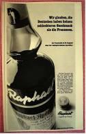 Reklame Werbeanzeige  Raphael Aperitif  - Keinen Schlechteren Geschmack Als Die Franzosen  , Von 1969 - Andere Sammlungen
