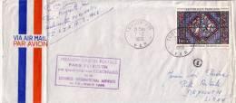 1ER LIAISON POSTALE PARIS BEYROUTH PAR QUADRIMOTEUR CORONADO DE LA LIBANESE INTERNATIONAL AIRWAYS 10-2-1966 - Luchtpost