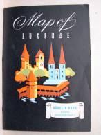 Pu. W4. Petite Géographique De Lucerne. Map Of Lucerne. - Publicités