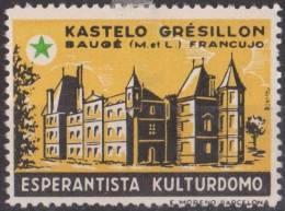 ESPERANTO - Labels - Vignette - Cinderellas - France , Kastelo Gresillon - MLH , Falz - Esperanto