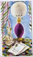 Bonne Fête Maman--carte Double Signée F.Estainy En Léger Relief --Lampe,nécessaire Bureau Forme Dame,cartes Postale-- - Fête Des Mères