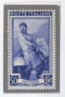 LUX197 - 1955 -  ITALIA AL LAVORO - STELLE - 50 CENT  MNH - REPUBBLICA -OTTIMA CENTRATURA- - 6. 1946-.. Republic