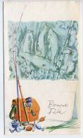 Bonne Fête --carte Double  En  Relief -- 1975--article De Pêche - Autres