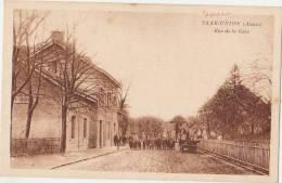 CPA 67 SARRE UNION Rue De La Gare Du Chemin De Fer - Sarre-Union