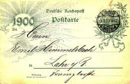 Empire, Entier Postal Circule, Lahr, Mi. P43 II  Aae. Cachet Au 01/01/00 - Deutschland