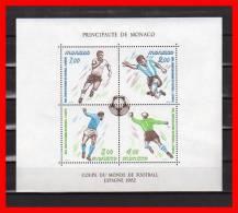 "Monaco 1982 : N° YT BF 21 Neuf ** MNH "" MONDIAL 1982 EN ESPAGNE "" Léger Pli NO - Fußball-Weltmeisterschaft"