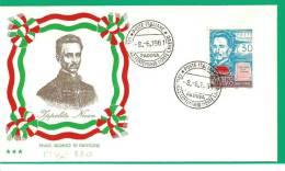 ITALIA, 1961, FDC IPPOLITO NIEVO - 6. 1946-.. Repubblica