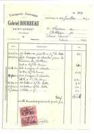 """Facture, Transport - Fourages """"Gabriel Bourreau"""" - St-Varent (79) - 1940 - Frais De Port : € 1.55 - Verkehr & Transport"""