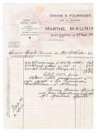Gard.Gains Et Fourrages  Marthe Maurin  à Saint Chaptes - France