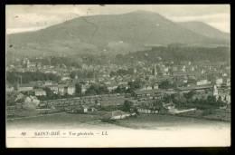 SAINT DIE. Vue Générale. 1927. Chemin De Fer : Trains, Gare ? - Saint Die