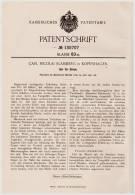 Original Patentschrift - Uhr Für Blinde , 1901 , C. Slamberg In Kopenhagen , Blindheit , Blind , Blindenschrift !!! - Jewels & Clocks