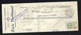 Lettre De Change, Papeteries Des Charentes E. Venthenat - Barbezieux (16) - 1930 - Frais De Port : € 1.55 - Bills Of Exchange