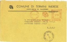 TERMINI IMERESE  90018 PROV. PALERMO   - ANNO 1980 - 1981  - LS  AMR -TEMATICA COMUNI D´ITALIA - STORIA POSTALE - Affrancature Meccaniche Rosse (EMA)