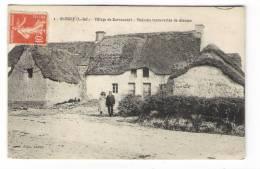 LOIRE-INFERIEURE  /  SAINT-MOLF  /  VILLAGE  DE  KERVOCADET  /  MAISONS  RECOUVERTES  DE  CHAUME  /  Edit.  LERAY - France