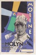 Netherlands Original Rare Blotter Advertising Moline Molyn Ca1930 Expresionist School Design [WIN3_235] - Verf & Lak