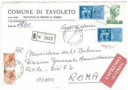 TAVOLETO  61020 PROV. PESARO E URBINO - ANNO 1978 - R EXP   -TEMATICA COMUNI D´ITALIA - STORIA POSTALE - Affrancature Meccaniche Rosse (EMA)
