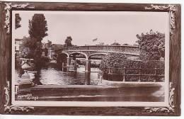 Uk England Hampton Bridge Real Photo Vintage Original Postcard Ca1900 Ak Cpa [WIN3_302] - London Suburbs