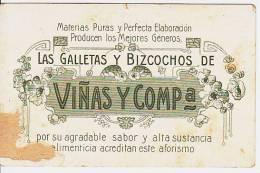 Argentina Publicitaria Art Nouveau Advertising Biscuits Tarjeta Postal  Original Postcard Vintage Ca1900 Cpa [WIN3_327] - Publicidad
