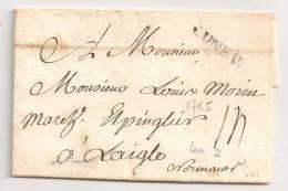 Lettre - MEURTHE - LUNEV. L.2 - Ancien Régime - 1765. SUP - Postmark Collection (Covers)