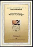 Berlin - ETB (Ersttagsblatt) 1/1986 Michel 750 - Wilhelm Furtwängler - Wert 1,70 Mi€ - Ex 0,56€ PP - FDC: Hojas