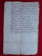 MANUSCRIT 1746  SIGNÉ FELIX DE CHEVALIER  SEIGNEUR DE ROMETTE - Manuscrits