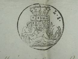 ETAT -SARDE -1 Lire -1857   Document Entier !!!!!!!!!!!! Haute Savoie - Steuermarken