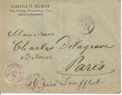 N°Y&T 88 BUCAREST      Vers FRANCE     Le    20 AVRIL1893 - Marcophilie