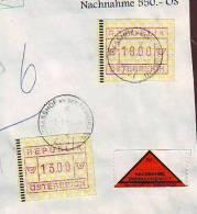 996y: Österreich ATM- Nachnahme 2.7.94 In Strasshof - ATM - Frama (vignette)