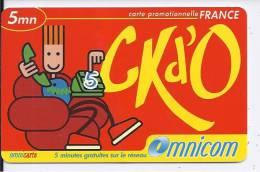 Carte Promotionnelle FRANCE 5 Mn - CKd'O - Omnicom - Frankrijk