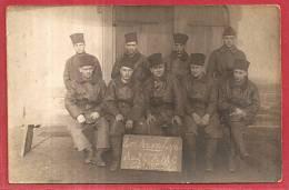 CARTE PHOTO -  LES AS DE LYON AU 24° A.M.C. CLASSE 24 - Militaria
