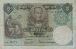 Ref. 47-631 - BI PORTUGAL . 1913. 5 ESCUDOS - CHAPA 1 - ALEXANDRE HERCULANO 1913 - Portogallo