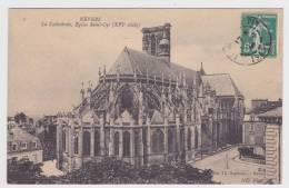(RECTO / VERSO) NEVERS EN 1908 - N° 1 - LA CATHEDRALE - EGLISE SAINT CYR - Nevers