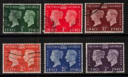 GB Scott 252/257 - SG479/484, 1940 Centenary Set Used - Gebruikt