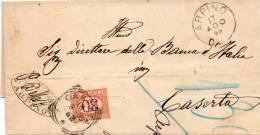 1899   LETTERA CON ANNULLO  ARPINO  FROSINONE - Impuestos