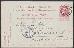Belgien BRUXELLES  DEPART Ganzsachenkarte Jubiläum 1830 - 1905 Nach BERLIN - 1905 Breiter Bart