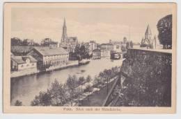 (RECTO / VERSO) METZEN 1918 - BLICK NACH DER MITTELKIRCHE - Metz