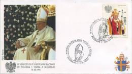POLONIA  - FDC ROMA 1991 - VISITA DI S.S. GIOVANNI PAOLO II IN POLONIA - KOSZALIN - ANNULLO SPECIALE - FDC