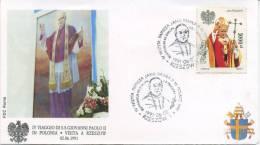 POLONIA  - FDC ROMA 1991 - VISITA DI S.S. GIOVANNI PAOLO II IN POLONIA - RZESZOW - ANNULLO SPECIALE - FDC