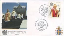 POLONIA  - FDC ROMA 1991 - VISITA DI S.S. GIOVANNI PAOLO II IN POLONIA - RADOM - ANNULLO SPECIALE - FDC
